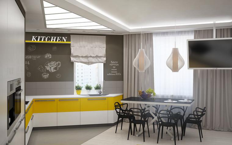 Квартира. кухня из проекта Квартира для большой семьи, фото №79043