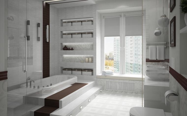 Квартира. ванная из проекта Квартира для большой семьи, фото №79062