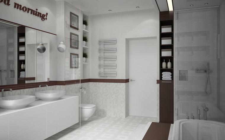 Квартира. ванная из проекта Квартира для большой семьи, фото №79064