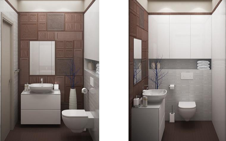 Квартира. ванная из проекта Квартира для большой семьи, фото №79065
