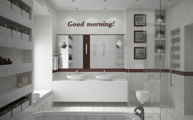 Квартира. ванная из проекта Квартира для большой семьи, фото №79066