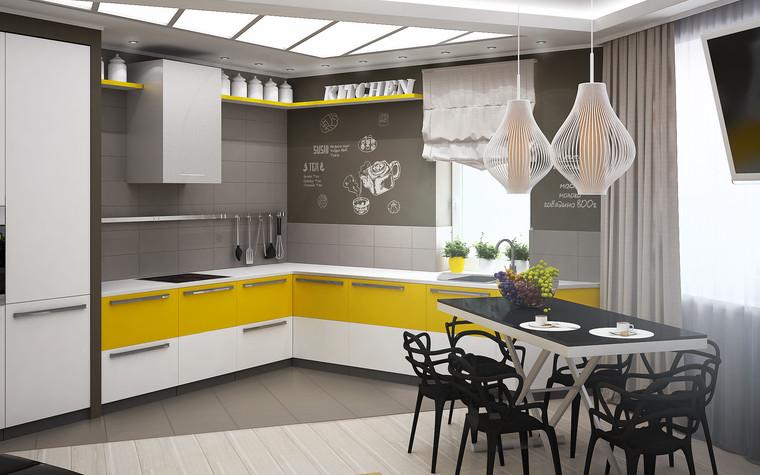 Квартира. кухня из проекта Квартира для большой семьи, фото №79041