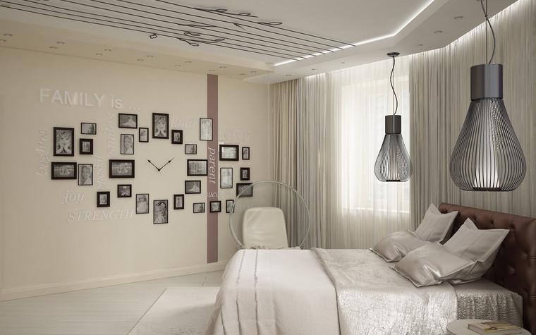 Квартира. спальня из проекта Квартира для большой семьи, фото №79046