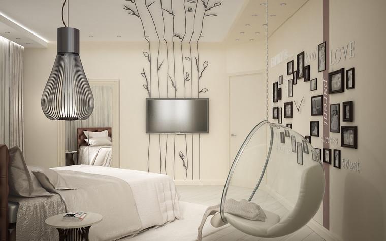 Квартира. спальня из проекта Квартира для большой семьи, фото №79048