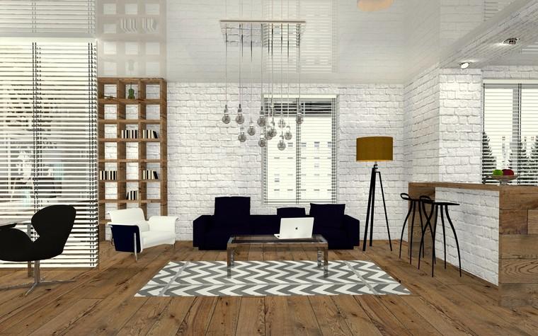 Квартира. гостиная из проекта Perfectly imperfect.  Скандинавия с чертами минимализма., фото №79180