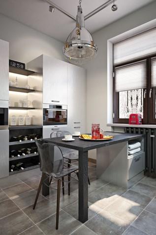 Квартира. кухня из проекта ИНДУСТРИЯ КОМФОРТА, фото №79393