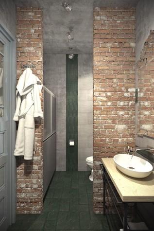 Квартира. ванная из проекта ИНДУСТРИЯ КОМФОРТА, фото №79395