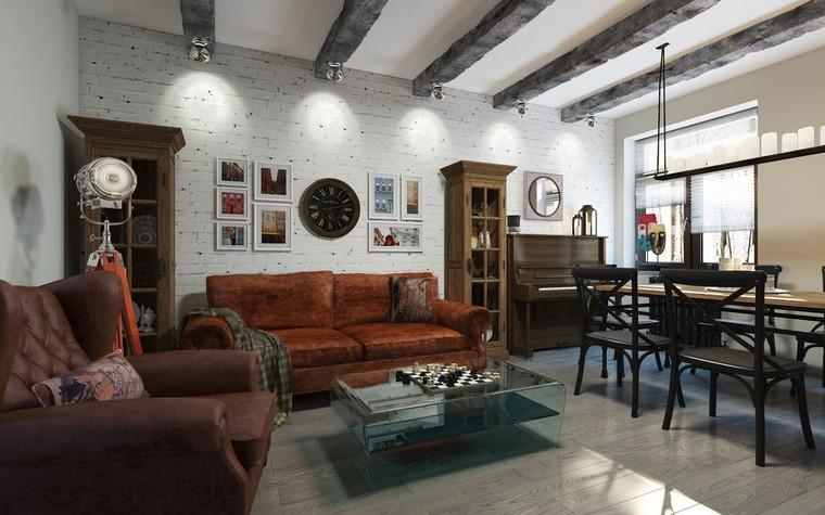 Квартира. гостиная из проекта ИНДУСТРИЯ КОМФОРТА, фото №79381