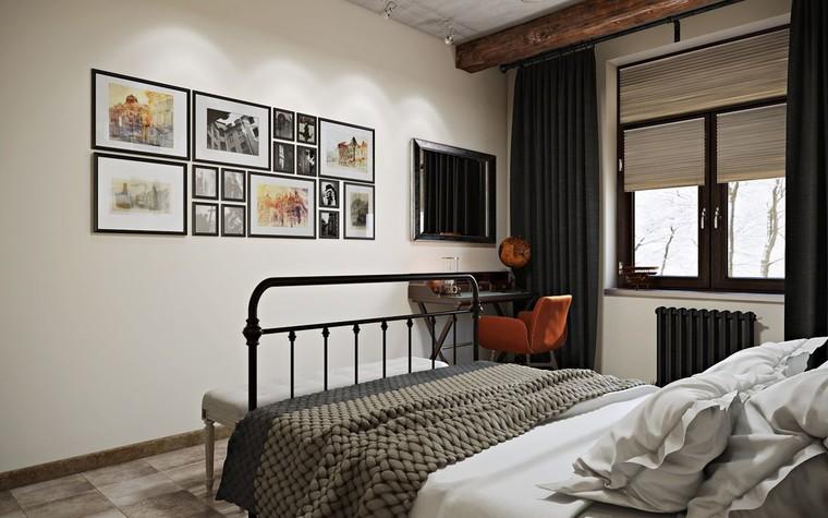 Квартира. спальня из проекта ИНДУСТРИЯ КОМФОРТА, фото №79399