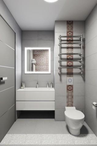 Квартира. ванная из проекта КРАСКИ ЖИЗНИ, фото №79446