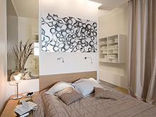 Квартира «», спальня . Фото № 2462, автор Пятый радиус Архитектурное бюро