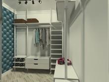 Квартира «Ловушка для счастья», гардеробная . Фото № 25668, автор Петрова Татьяна