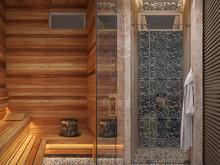 Квартира «Империал», баня сауна . Фото № 25917, автор Гринина Ирина