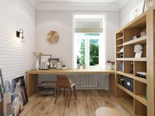 Квартира «Вдохновение творчеством», кабинет . Фото № 26237, автор Art-i-Сhok