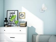 Квартира «МОДНЫЕ КВАРТАЛЫ», гостевая . Фото № 26301, автор Алёны Чекалиной Дизайн студия
