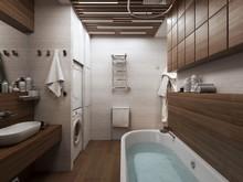 Квартира «ЖК ОГНИ Екатеринбурга», ванная . Фото № 26497, автор Студия Rahat-House Ник и Христина