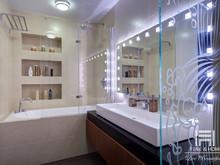 Квартира «Контрастный интерьер для молодой семьи», ванная . Фото № 26503, автор Левченко Юлия