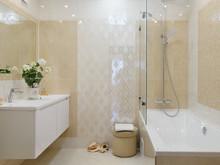 Квартира «Квартира на Фурманова», ванная . Фото № 26507, автор Пересторонина Екатерина