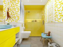 Квартира «Банановый рай», ванная . Фото № 26536, автор Бойцова Ольга