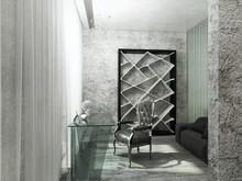 Квартира «Жизнь на высоте (Мосфильмовская 8)», кабинет . Фото № 26567, автор Artscor Дизайн студия