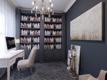 Квартира «American Dream», кабинет . Фото № 26571, автор Маркус-Симонян Гиля