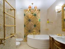 Квартира «Двухуровневая квартира с зимним садом», ванная . Фото № 26741, автор Чащина Оксана