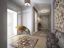 Квартира «Московский Прованс», прихожая . Фото № 26744, автор Романовская Виталия