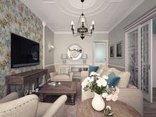 Квартира «Московский Прованс», гостиная . Фото № 26745, автор Романовская Виталия