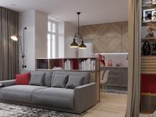 Квартира «Молодежный микс», гостиная . Фото № 26804, автор Новиков Андрей