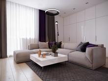 Квартира «Свежесть светлого», гостиная . Фото № 26822, автор Новиков Андрей