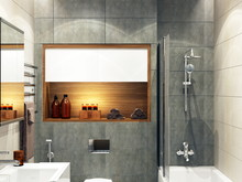 Квартира «Уютная квартира для молодоженов», ванная . Фото № 26846, автор Новиков Андрей