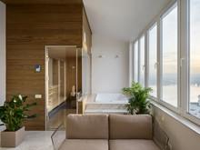 Квартира «Минимализм в ЖК Парус», веранда лоджия . Фото № 26855, автор Art-i-Сhok