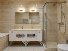 Квартира «Минимализм в ЖК Парус», ванная . Фото № 26854, автор Art-i-Сhok