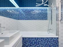 Квартира «Минимализм в ЖК Парус», ванная . Фото № 27213, автор Art-i-Сhok