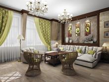 Квартира «Дизайн двухуровневой квартиры 157 кв.м. Мансарда для семьи с ребенком», гостиная . Фото № 26862, автор Соболев Павел