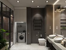 Квартира «Дизайн двухуровневой квартиры 170 кв.м. Soft Loft для молодой семьи», ванная . Фото № 26887, автор Соболев Павел