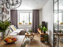 Квартира «Квартира ЖК Татьянин Парк», гостиная . Фото № 26915, автор OM DESIGN Студия дизайна