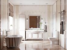 Квартира «Звучание новой классики», ванная . Фото № 26928, автор Новиков Андрей