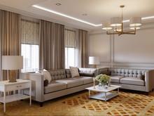 Квартира «Звучание новой классики», гостиная . Фото № 26931, автор Новиков Андрей