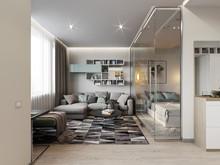Квартира «Квартира-студия на Тульской», гостиная . Фото № 26951, автор Жданов Евгений