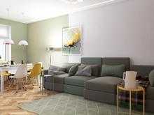Квартира «3-ех комнатная квартира в Минске», гостиная . Фото № 26963, автор Зазнова Вероника