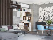 Квартира «Апартаменты в ЖК Фили Град», гостиная . Фото № 26969, автор OM DESIGN Студия дизайна