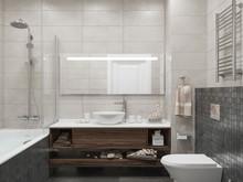 Квартира «Интерьер квартиры в ЖК Фили Град», ванная . Фото № 27002, автор OM DESIGN Студия дизайна
