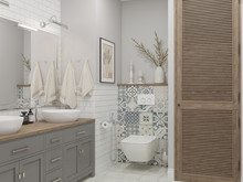 Квартира «ДИЗАЙН ТРЕХКОМНАТНОЙ КВАРТИРЫ В ЖК А101», ванная . Фото № 27027, автор OM DESIGN Студия дизайна