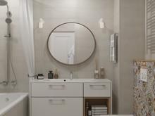 Квартира «ДИЗАЙН ИНТЕРЬЕРА ТРЕХКОМНАТНОЙ КВАРТИРЫ В ЖК МОЙ АДРЕС», ванная . Фото № 27047, автор OM DESIGN Студия дизайна