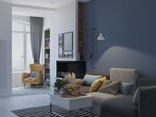 Квартира «ДИЗАЙН ИНТЕРЬЕРА КВАРТИРЫ В ЖК СОЛНЕЧНАЯ СИСТЕМА», гостиная . Фото № 27070, автор OM DESIGN Студия дизайна