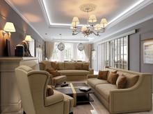 Квартира «Квартира с потайным кабинетом.», гостиная . Фото № 27097, автор Козлова Екатерина
