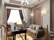 Квартира «Квартира с потайным кабинетом.», кабинет . Фото № 27100, автор Козлова Екатерина
