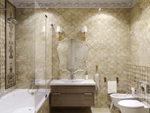 Квартира «Квартира с потайным кабинетом.», ванная . Фото № 27102, автор Козлова Екатерина