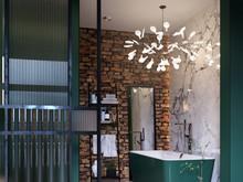 Квартира «Green Loft», ванная . Фото № 27114, автор Евгений Барболин и Мария Летникова